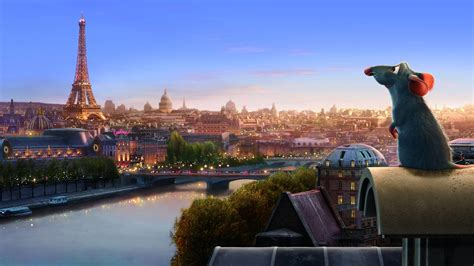 full hd wallpaper ratatouille rat paris landscape desktop