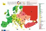 All 49 countries in Europe have been ranked for LGBTI rights