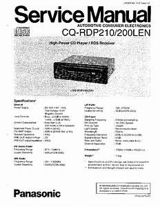 Panasonic Cq Rx122w User Manual