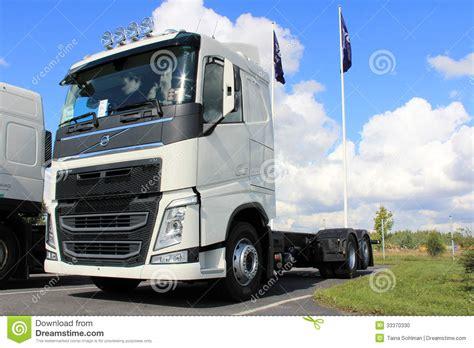 volvo truck range white new volvo fh truck editorial image image 33370330