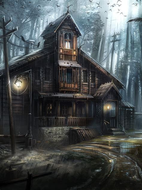 haunted forest wallpaper  images