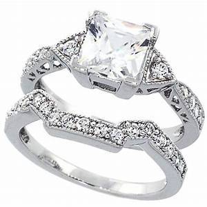 white gold cz wedding rings sets wedding and bridal With cz wedding ring sets white gold