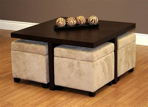 table with ottomans underneath coffee table with pull out ottomans roy home design