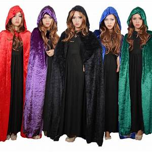 halloween costume for women hooded death elf magician With robe pour halloween