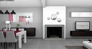 Deco cuisine salle a manger for Idee deco cuisine avec meuble salle a manger contemporain