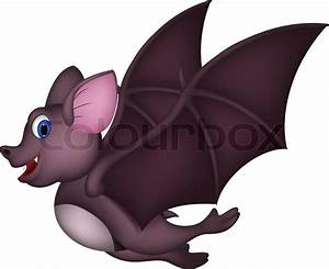 Cute Cartoon bat flying | Stock Vector | Colourbox