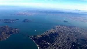 Aerial View Of San Francisco Bay Area  Golden Gate Bridge