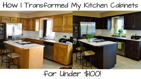 Oak Kitchen Island - how i transformed my kitchen cabinets for under 100 youtube