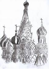 Dome Coloring Onion Russian Template Sketch sketch template