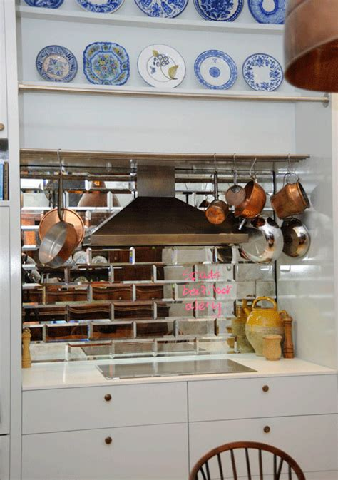 Before & After Kitchen Redo With Mirrored Tiles  Design