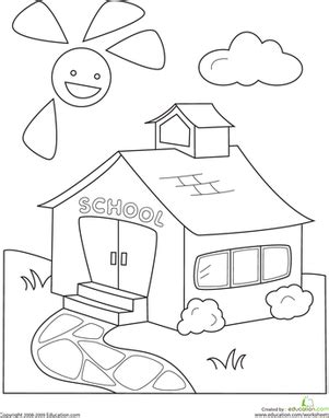 color  schoolhouse worksheet educationcom