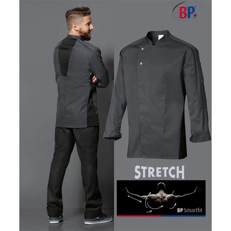acheter veste de cuisine veste de cuisine grise liberté de mouvement manches longues
