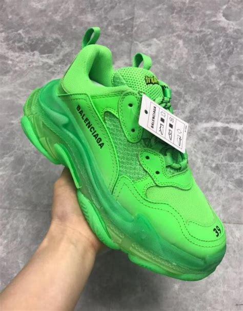 balenciaga triple green flashy sneakers billionairemart