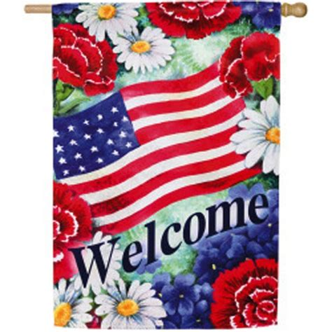 Discount Decorative Flags - blue white and welcome house flag house flags on sale