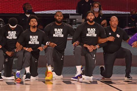 la nba  ginocchio  la protesta black lives matter