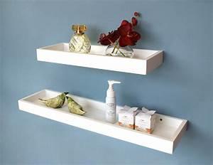White, Floating, Multi, Shelf, 400x150x40mm