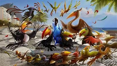 Cartoon Wallpapers Rio Desktop Angry Birds 3d