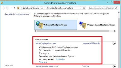 geheimer passwort manager  windows computer bild