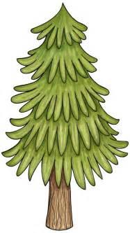 Woodland Pine Tree Clip Art