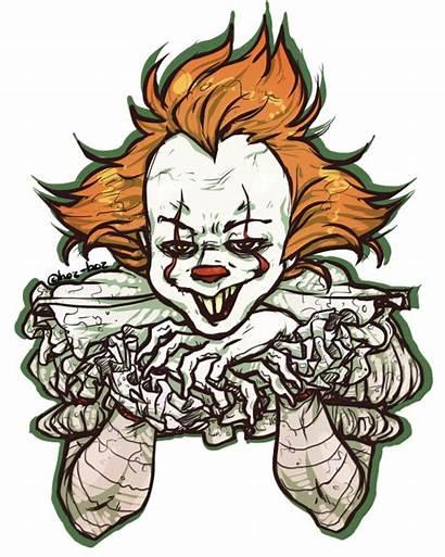 Pennywise Clipart Clown Balloons Transparent Deviantart Creepy