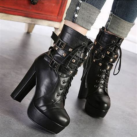 women high heels pumps fashion winter boots ladies vintage