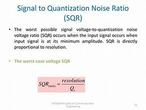 Signal To Noise Ratio Berechnen : ppt pulse modulation powerpoint presentation id 3686204 ~ Themetempest.com Abrechnung