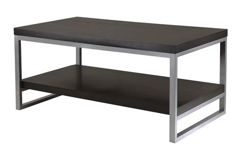 modern black table l modern black coffee table with silver metal legs and