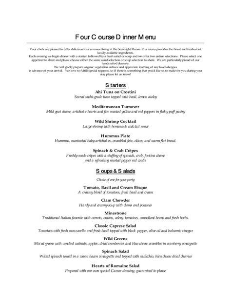 menu card template   templates   word excel