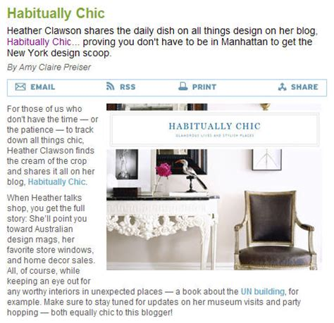 Habitually Chic Thanks House Beautiful