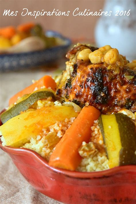 recette cuisine couscous tunisien couscous au poulet aux légumes le cuisine de samar
