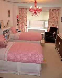 Little, Girls, U0026, 39, Shared, Pink, Bedroom