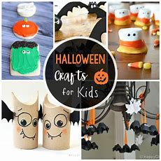 25 Cute & Easy Halloween Crafts For Kids  Crazy Little