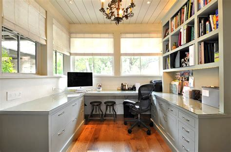 Wall Shelving In A Home Office