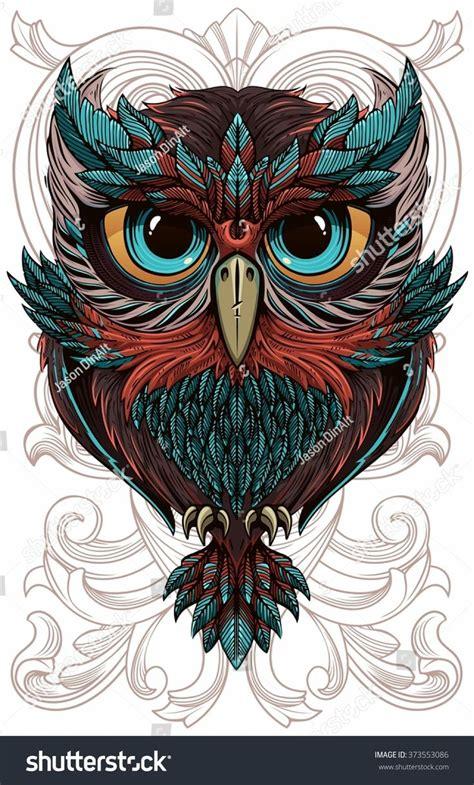 hibou graphique graph   owl tattoo design owl
