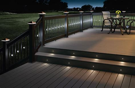 Home Depot Deck Rail Lighting by Deckorators Railing Balusters Post Tops Deck Lighting