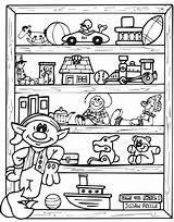 Coloring Elf Shelf Pages Christmas Toy Toys Printable Elves Presents Holiday Colouring Hubpages Elfs Printactivities Shelves Coloringpages Halloweenrecipes Boys Rocks sketch template