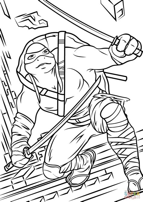 Teenage Ninja Turtle Coloring Pages Download Free