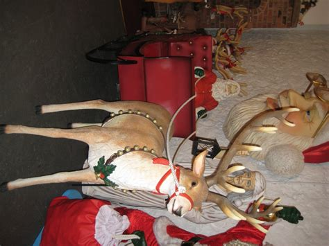 santa reindeer jumbo sleigh jr 120025 24 the jolly