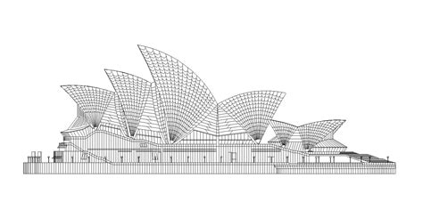sydney opera house cad design  cad blocksdrawings