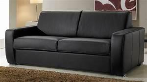 canape convertible rapido en cuir noir et blanc With canape angle cuir 3 places