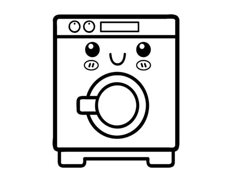 Washing Machine Coloring Page Coloringcrewcom