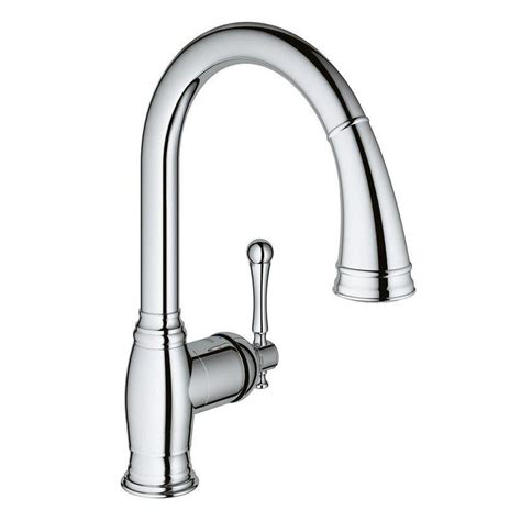 Grohe Kitchen Faucets Lowes by Grohe Bridgeford Chrome 1 Handle Pull Out Kitchen Faucet