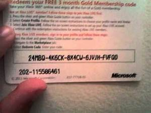 Carte Xbox Live Gold 3 Mois Bonus YouTube