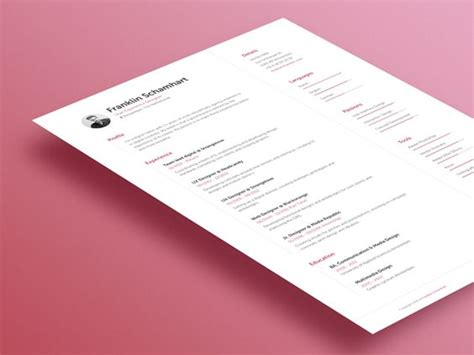 font combinations creative resume and curriculum on