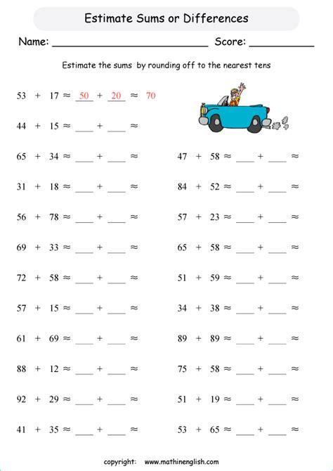 rounding  estimating worksheets merit badge worksheets
