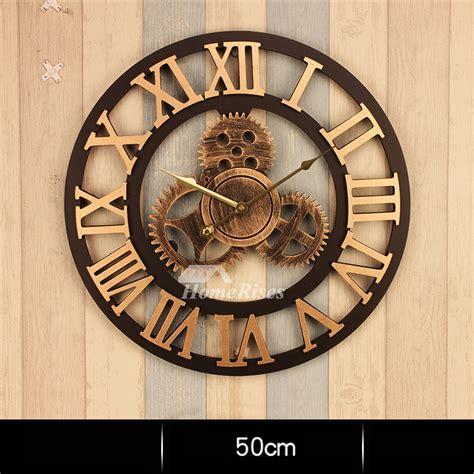 gear wall clock    large mechanical industrial