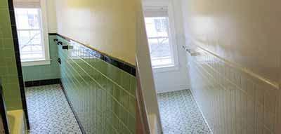 bathroom shower tile reglazing refinishing resurfacing