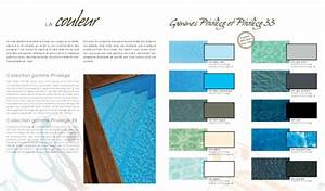 catalogue piscinelle les piscines les plus design With couleur eau piscine selon couleur liner