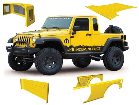 mopar jeep wrangler mopar jk 8 pickup conversion kit for 07 12 jeep wrangler