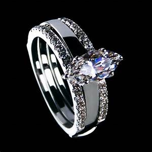 luxurious jewelry 2ct nscd synthetic diamond marquise cut With synthetic diamond wedding rings